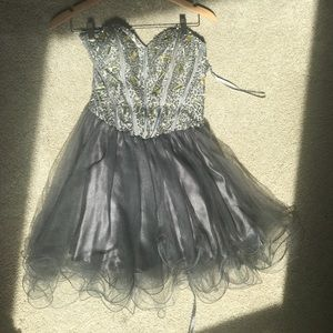 Gray homecoming dress